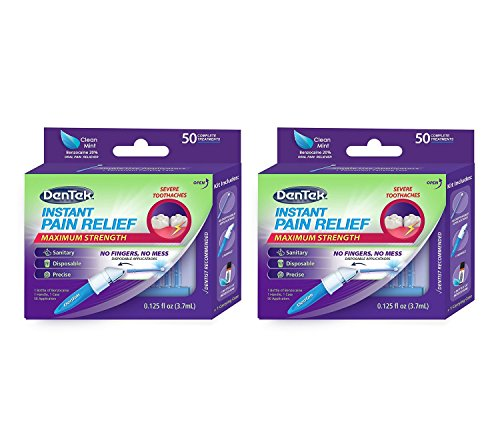 DenTek Instant Oral Pain Relief Maximum Strength Kit for Toothaches | 50-Count per pack | 2-Pack