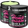 (2 Pack) Premium Hemp Cream for Knees, Sore Muscules, Joints, Legs, Elbows - Natural Hemp Oil Extract with Arnica, Emu Oil, and Turmeric - Extra Strong Relaxing Muscle Cream - Made in USA, 4 oz Total