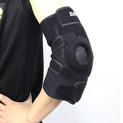 ARRIS Elbow Ice Pack Wrap, Gel Pack with Elbow Support Wrap for Hot Cold Therapy, Reusable Wearable Ice Pack for Elbow Arm Pain Relief for Tendonitis, Arthritis, Tennis and Sports Injury