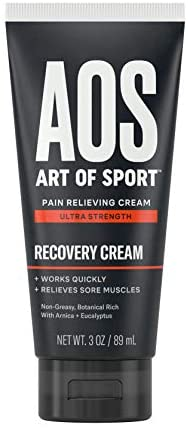 Art of Sport Ultra Strength Recovery Cream, Pain Relief Cream with Arnica and Eucalyptus, for Back Pain, Joint Pain, Muscle Pain, Athlete-Engineered Formula, 3 oz
