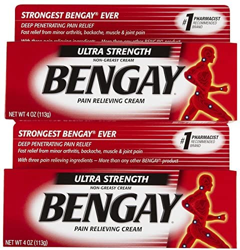 Bengay Ultra Stength Pain Relieving Cream, Non-Greasy-Ultra Strength, 2 pk