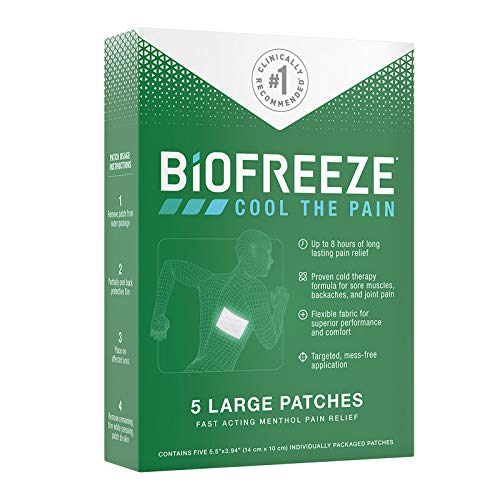 Biofreeze-14672 Pain Relief Patch, Large, 5 Patches