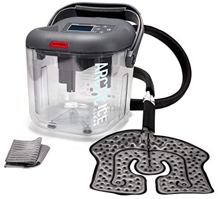 Circulating Cold Water Therapy Ice Machine by Arctic Ice Clear –with Universal Pad for Knee, Elbow, Shoulder, Back Pain, Swelling, Sprains, Inflammation, Injuries (Arctic Ice Clear)
