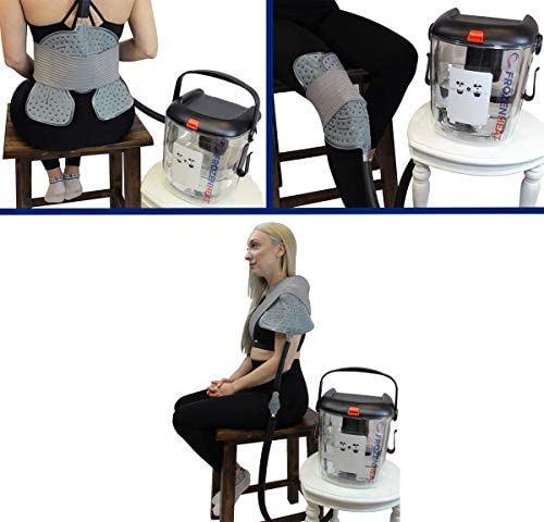 Frozen Heat Therapy Unit for Hot and Cold Cryotherapy Treatment with Reusable Attachment Pads for Back, Shoulder, Leg, Ankle, Hip and Knee- for a Faster Recovery and Pain Relief by Brace Direct