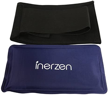 Inerzen Body and Knee Hot and Cold Gel Pad Therapy Adjustable Wrap for Arms, Legs, Thighs, Biceps, Elbows, Sports Pain Injuries, Muscle, Stress Relief