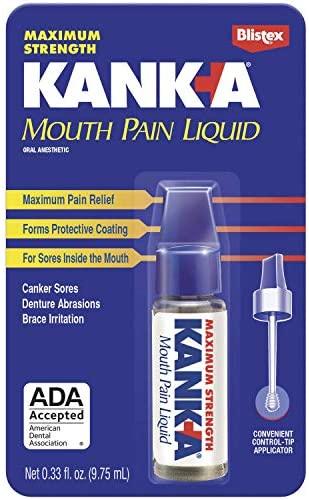 Kank-A Mouth Pain Liquid, Maximum Strength , .33-Ounce