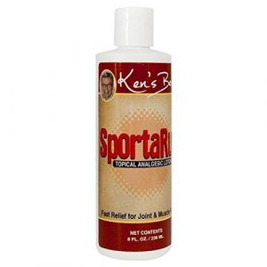 Ken's Best SportaRub | Back Pain Relief, Neck or Knee Pain, Muscle Soreness | Pain Relief Cream with Icy Cold and Hot Formula | Fast Relief for Joint and Muscle Pain, 8 Ounces | SLD Products