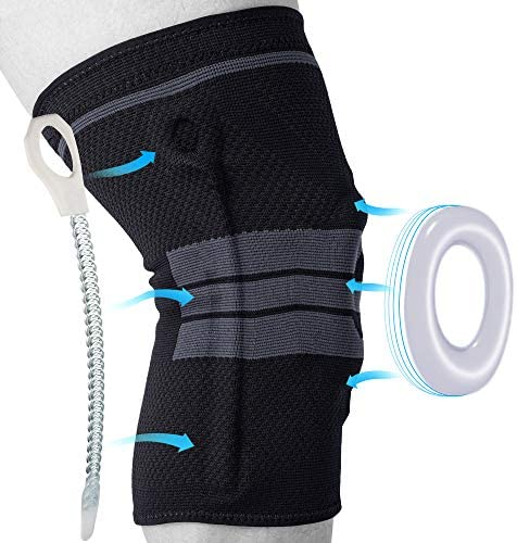 Knee Brace, Knee Compression Sleeve Support for Men and Women, Medical Grade Knee Patella Gel Pads for Running, Meniscus Tear, ACL, Arthritis, Joint Pain Relief, Injury Recovery (Black,M)