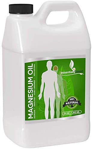 Magnesium Oil Spray - Large Half Gallon (64oz Size) - Extra Strength - 100% Pure for Less Sting - Less Itch - Natural Pain Relief & Sleep Aid - Essential Mineral Source - Made in The USA