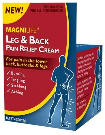 Magni Life Leg and Back Pain Relief Cream, 4 Ounce