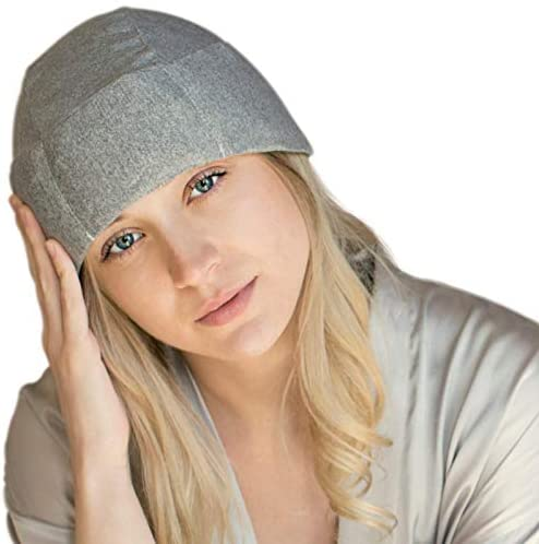 Migraine Gel Ice Hat by FOMI Care | Cooling Headache Pack | Wearable Cold Therapy Wrap for Tension, Sinus, Pressure Pain Relief | Stress Reliever | Freezable
