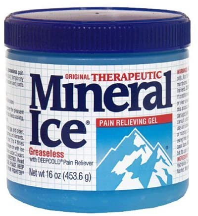 Mineral Ice Therapeutic Pain Relieving Gel, 8 Ounce