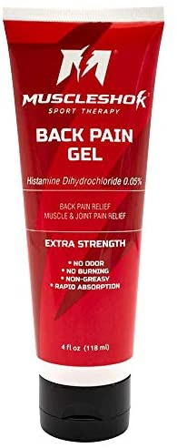 MuscleShok Arnica Gel Extra Strength Back Pain Muscle Relief Gel - Odorless, Fast Acting, Muscle & Joint Pain Reliever (1 Pack)