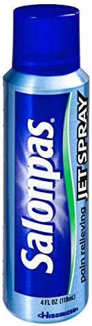 Salonpas Pain Relief Jet Spray 4 oz per Canister (6 Pack)