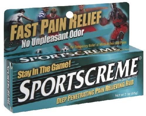 Sportscreme Pain Relieving Rub Cream 3 oz (2 Pack)