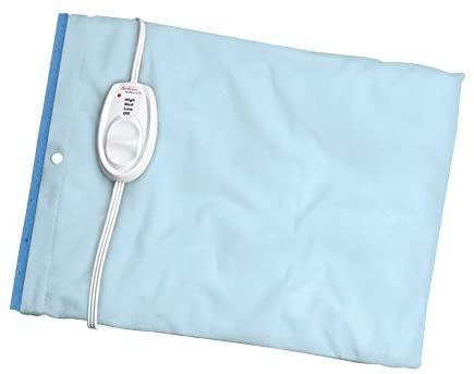 Sunbeam Heating Pad for Pain Relief | Standard Size UltraHeat, 3 Heat Settings with Moist Heat| Light Blue, 12-Inch x 15-Inch
