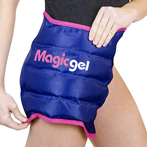 Hip Ice Pack Wrap - Reusable Cold Pack for Hip Bursitis, Hip Replacement Surgery and Hip Flexor Pain. Hip ice wrap for inflammation, swelling and Hip Pain Relief (by Magic Gel)